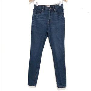 Everlane high rise skinny jeans dark wash 27 tall